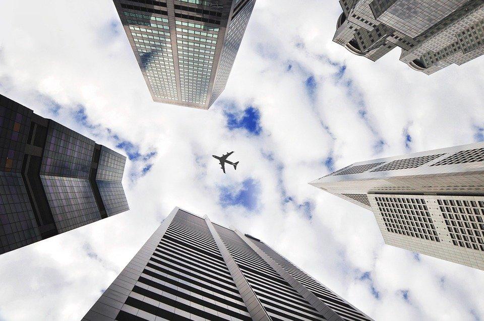 Flyet, Himmelen, Bygninger, Tårnene, Arkitektur, City