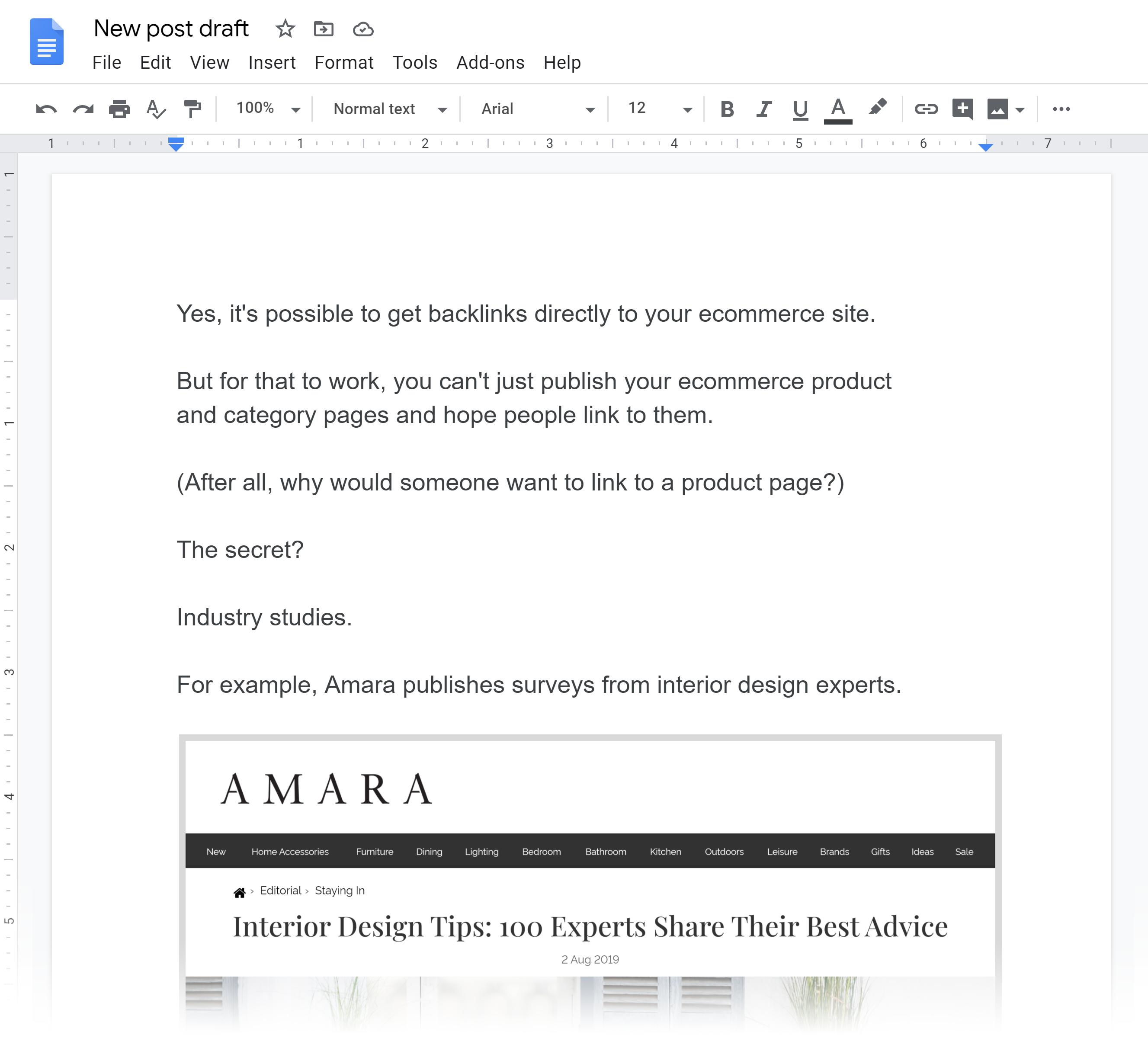 Amara – Interior Design Tips Post